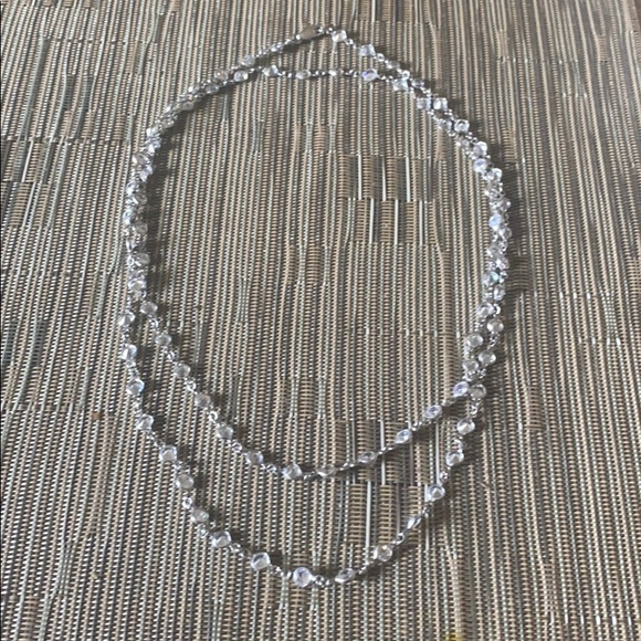Jewelry - Sterling Silver end CZ stone necklace